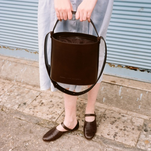 Champagne Bucket Bag, brown