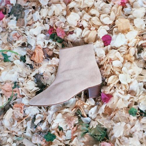 Ringo botki, piaskowy zamsz