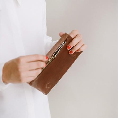 Dash flap wallet, brown