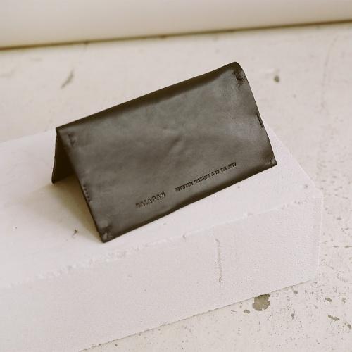 Dash flap wallet, black