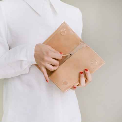 Dash flap wallet, natural