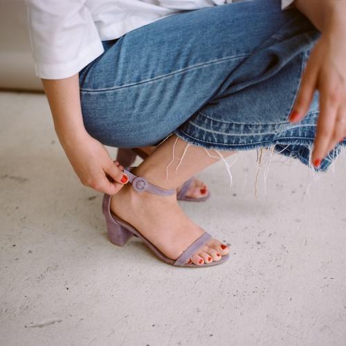 Sandałki Ulam, lavender
